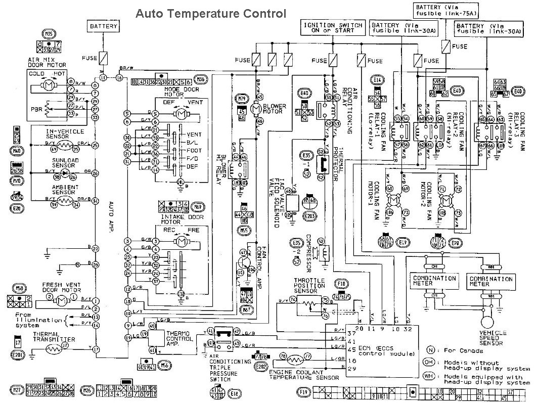 4mt5q Nissan Datsun Maxima Se Coolant Temperture Sensor as well 1999 Nissan Patrol Stereo Wiring Diagram in addition 216498 Howto Manual Automatic Digital Climate Control Conversion in addition Honda Accord88 Radiator Diagram And Schematics moreover Wiringdiagrams. on 1994 nissan sentra ecu diagrams