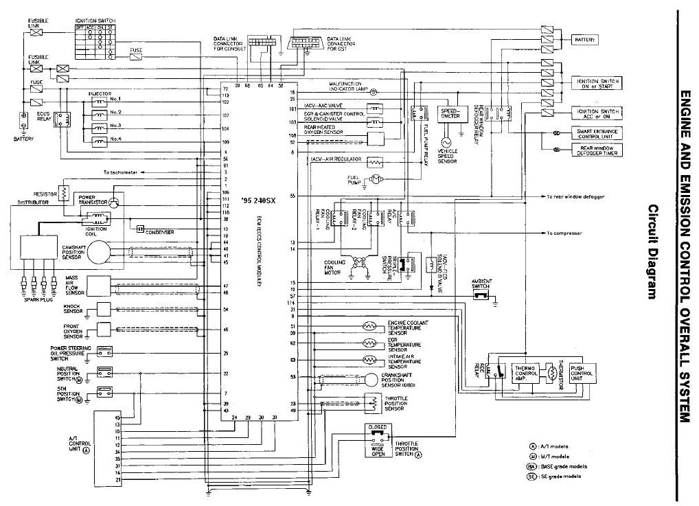 engine eccs wiring diagram of sr20det nissan