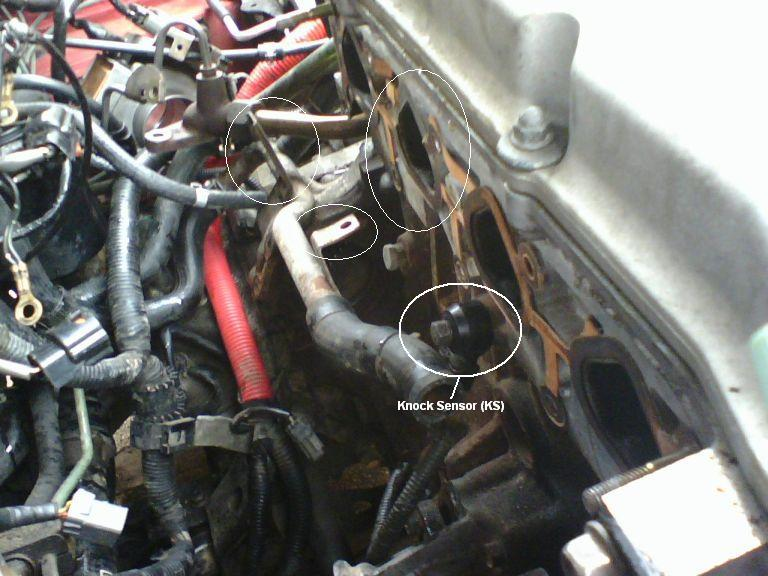 My Intake Gasket Replacement Nissan Forums Forumrhnissanclub: Nissan 200sx Knock Sensor Location At Gmaili.net